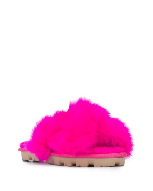 Ugg Fuzzalicious エコファー サンダル Pink