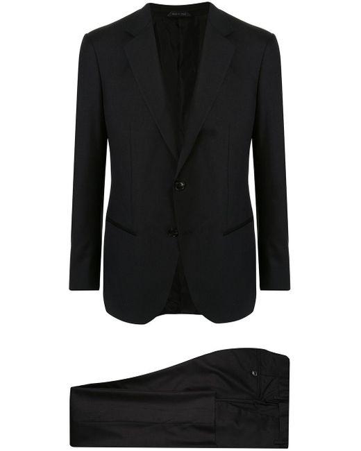 メンズ Giorgio Armani ツーピース スーツ Black