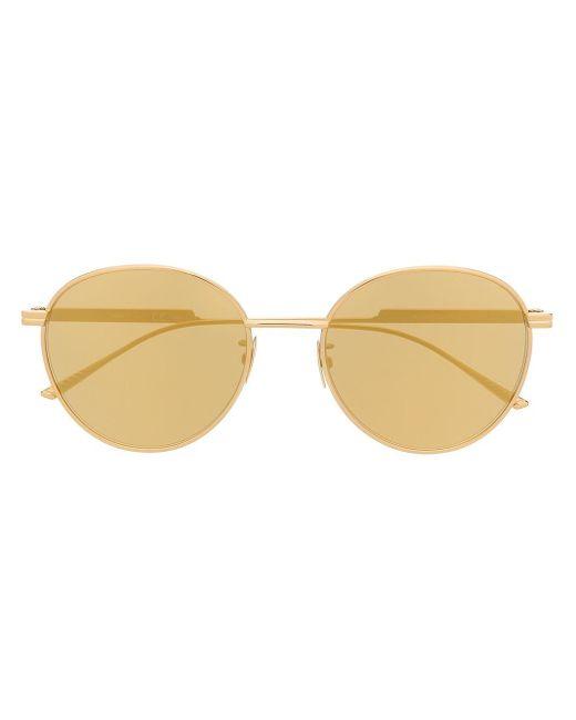 Солнцезащитные Очки В Круглой Оправе Bottega Veneta, цвет: Metallic