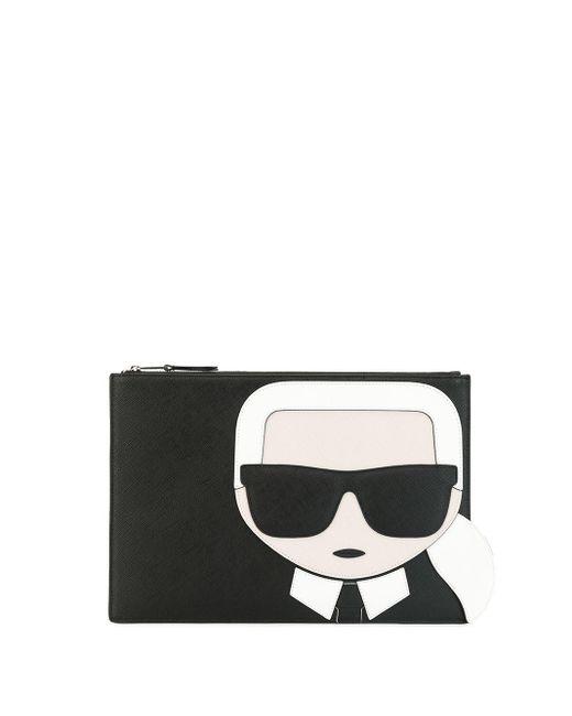 Клатч K/ikonik Karl Lagerfeld, цвет: Black