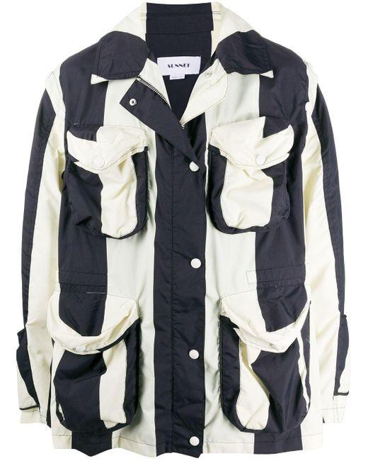 メンズ Sunnei ストライプ ジャケット White