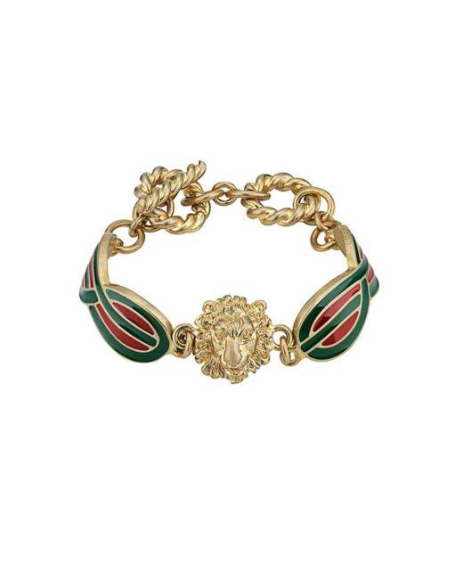 Gucci ライオンヘッド ブレスレット Multicolor