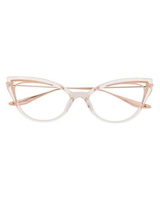 Очки В Оправе 'кошачий Глаз' Dita Eyewear, цвет: Metallic