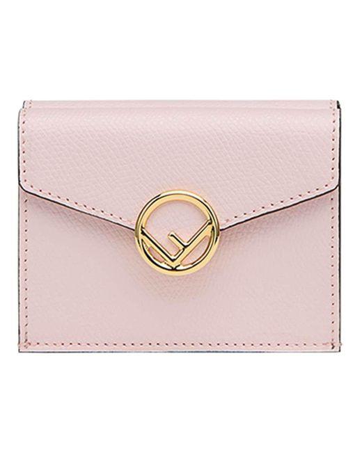 Fendi エフ イズ フェンディ 三つ折り財布 Pink