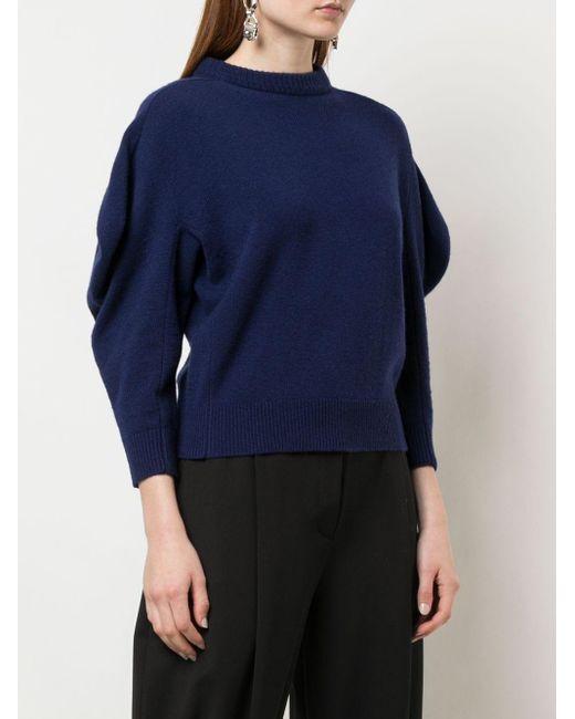 Proenza Schouler ドレープスリーブ セーター Blue
