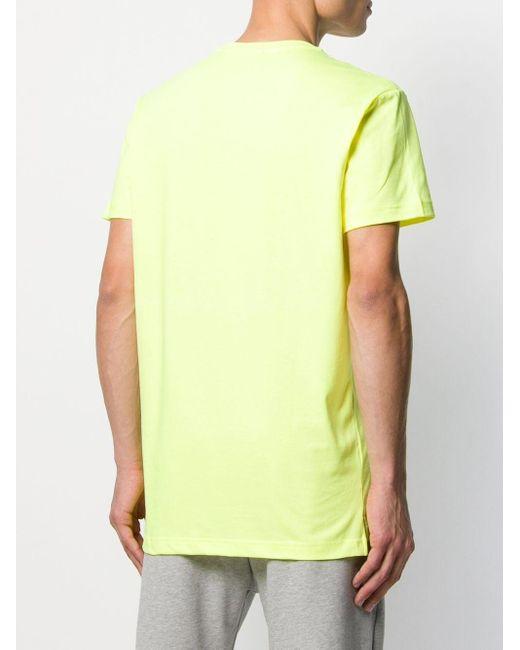 T-shirt à logo embossé DIESEL pour homme en coloris Yellow