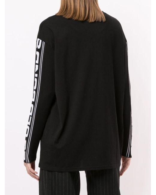 Stella McCartney ロゴストライプ スウェットシャツ Black
