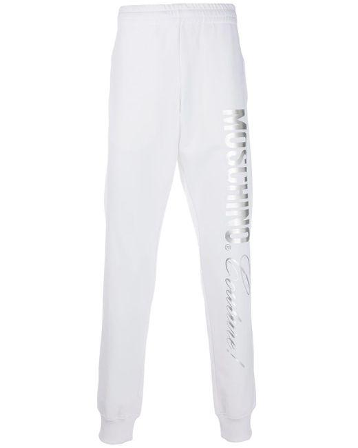 メンズ Moschino メタリックロゴ トラックパンツ White
