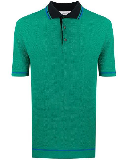 メンズ Pringle of Scotland コントラストカラー ポロシャツ Green