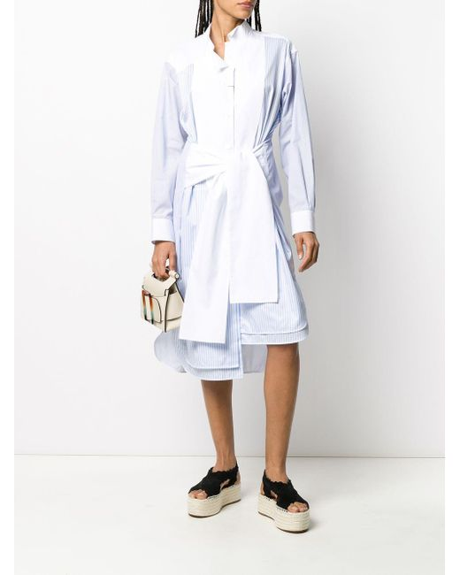 Loewe タイフロント ドレス Blue