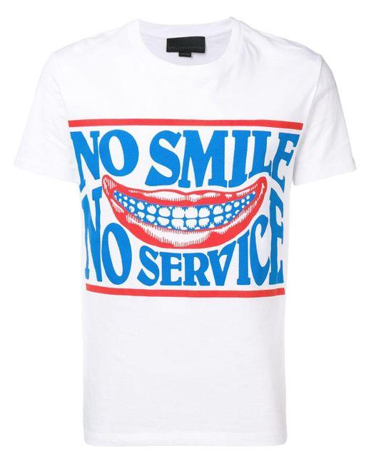 メンズ Stella McCartney No Smile Tシャツ Blue
