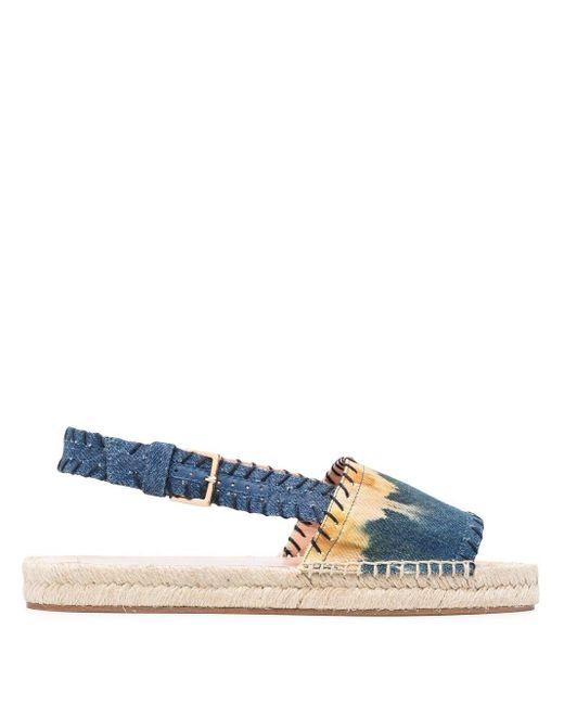 Джинсовые Эспадрильи С Открытым Носком Alberta Ferretti, цвет: Blue
