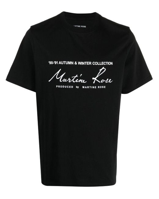 Martine Rose Black Logo Print T-shirt for men