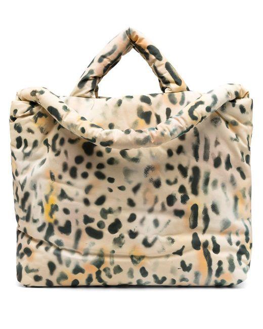 Kassl Multicolor Leopard-print Padded Shoulder Bag