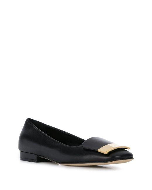 Туфли С Металлическим Логотипом Sergio Rossi, цвет: Black