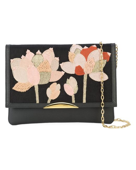Lizzie Fortunato | Black Flower Patch Shoulder Bag | Lyst