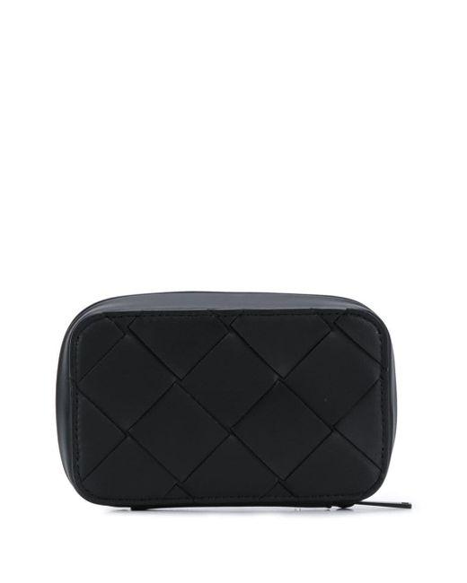 メンズ Bottega Veneta イントレチャート トラベルポーチ Black
