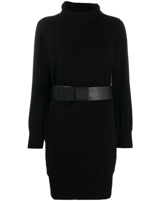 Fabiana Filippi ベルテッド ドレス Black