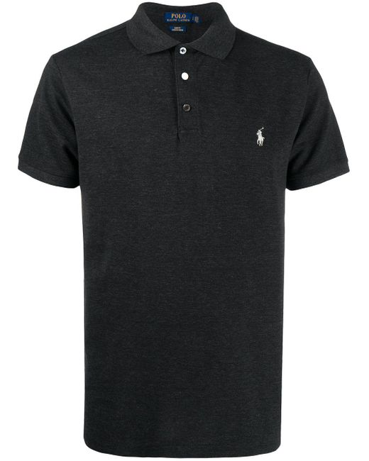 メンズ Polo Ralph Lauren ロゴエンブロイダリー ポロシャツ Black