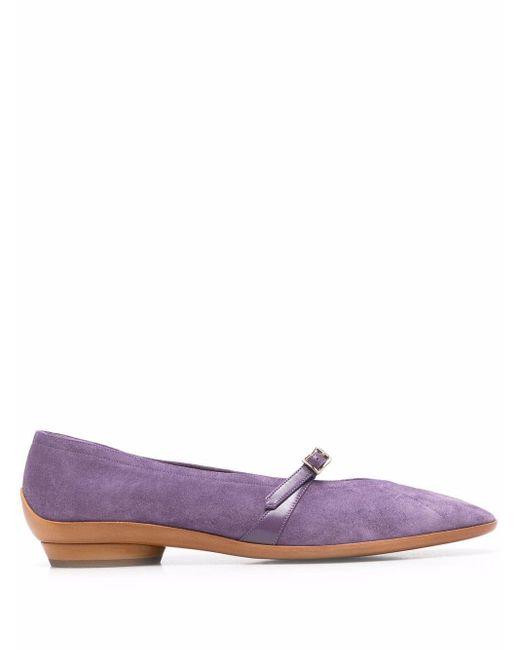 Балетки На Низком Каблуке Ferragamo, цвет: Purple