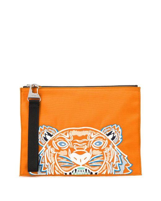 KENZO Rucksack mit Tigerstickerei in Orange für Herren