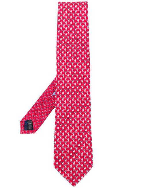 Галстук С Узором Ferragamo для него, цвет: Red