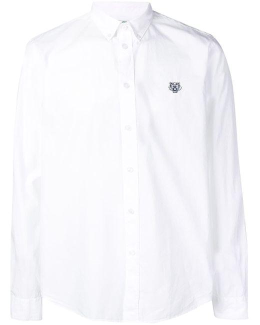 メンズ KENZO タイガー シャツ White