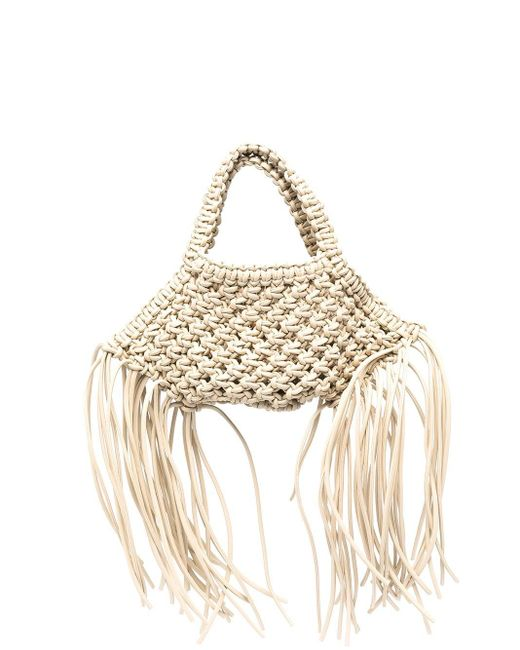 Yuzefi Multicolor Mini Woven Leather Bag