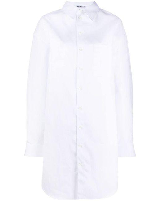 Balenciaga オーバーサイズ シャツドレス White