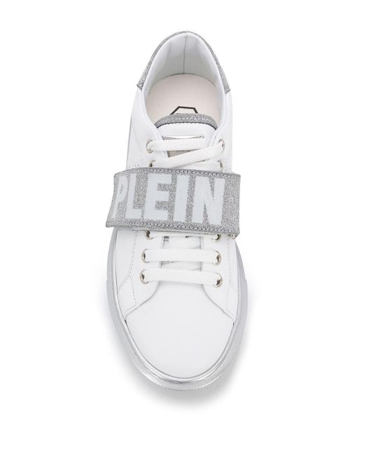 Baskets à bande logo Philipp Plein en coloris White