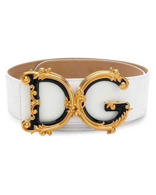 Dolce & Gabbana ロゴ ベルト Metallic