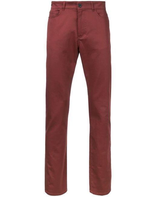 メンズ Gieves & Hawkes スリムフィットパンツ Red