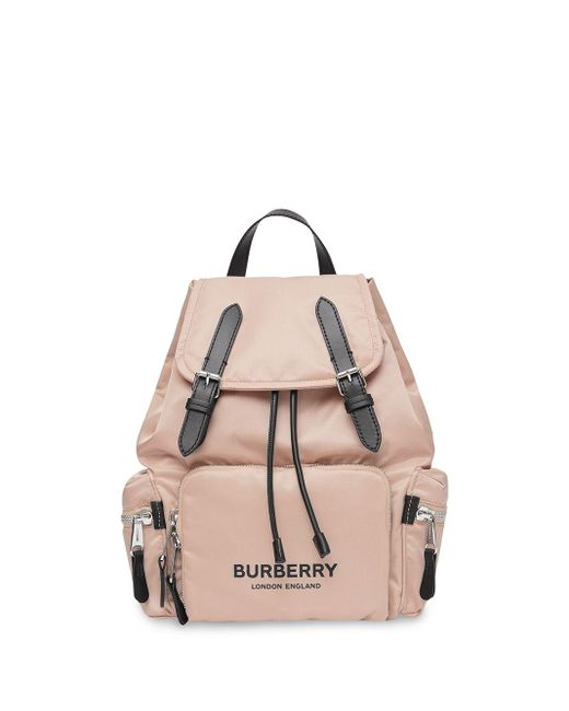 Burberry ミディアム ナイロンバックパック Pink