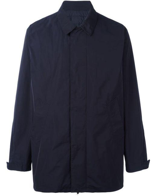 メンズ Moncler ショートシングルコート Blue
