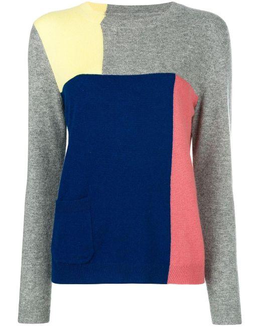Chinti & Parker カラーブロック セーター Blue