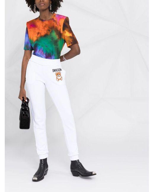 Спортивные Брюки С Вышивкой Teddy Bear Moschino, цвет: White