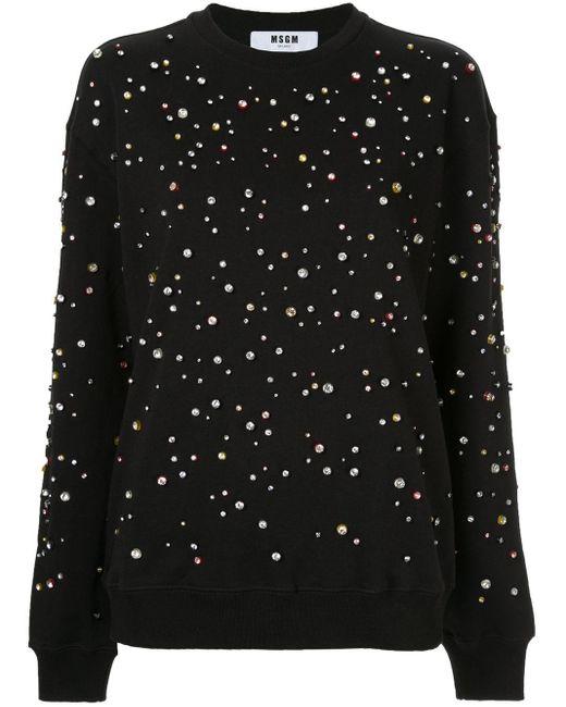 MSGM デコラティブ スウェットシャツ Black