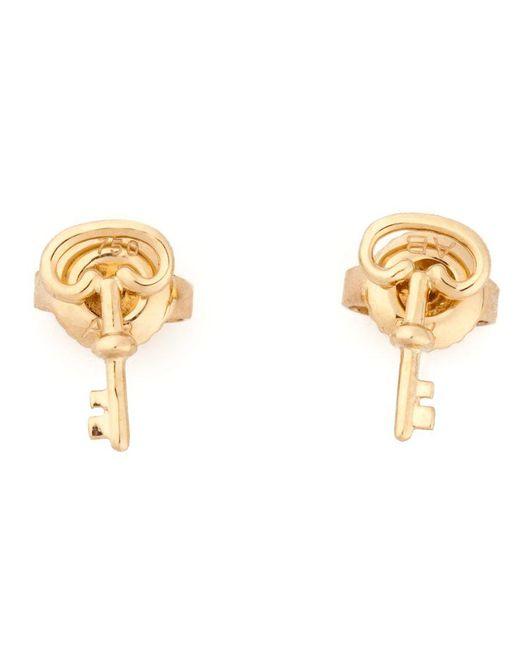 Aurelie Bidermann | Metallic 18kt Yellow Gold Key Mini Charm Earrings | Lyst