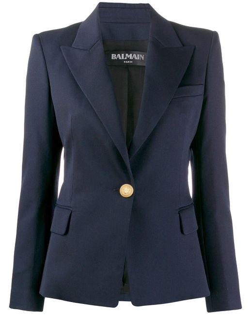 Balmain テーラードジャケット Blue