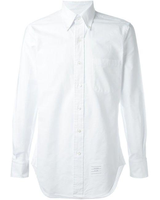 メンズ Thom Browne クラシック オックスフォード シャツ White
