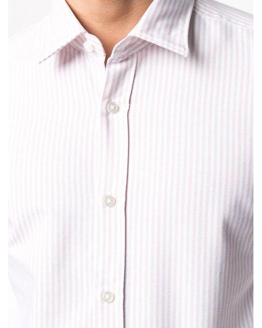 メンズ BOSS by Hugo Boss ストライプ シャツ White