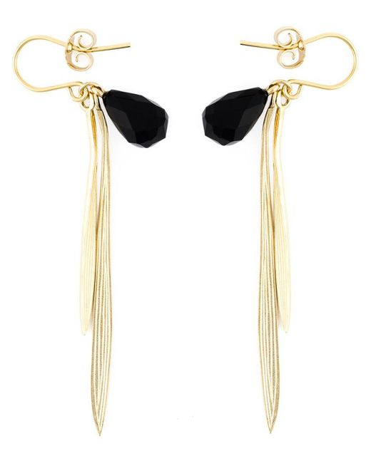 Wouters & Hendrix - Metallic 'bamboo' Onyx Earrings - Lyst