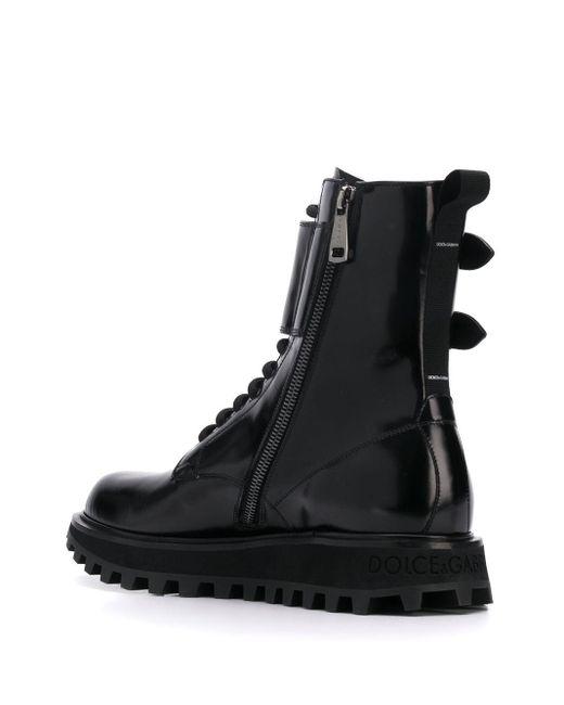 メンズ Dolce & Gabbana バックル ブーツ Black