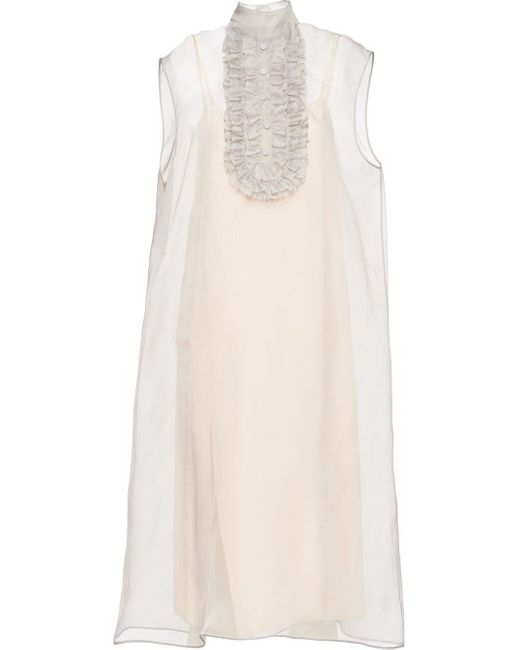 Prada ノースリーブ ドレス Gray