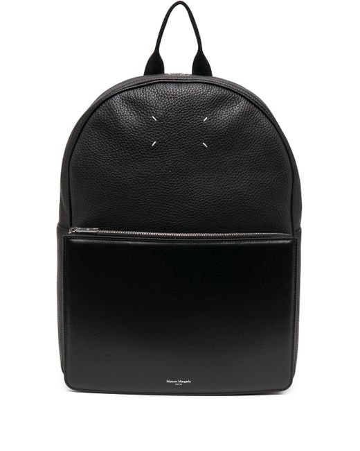 メンズ Maison Margiela ロゴ バックパック Black