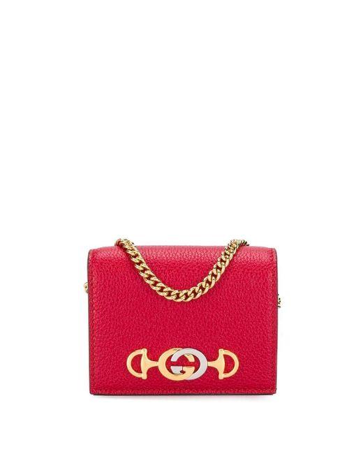 Gucci グッチ ズゥミ 二つ折り財布 Red