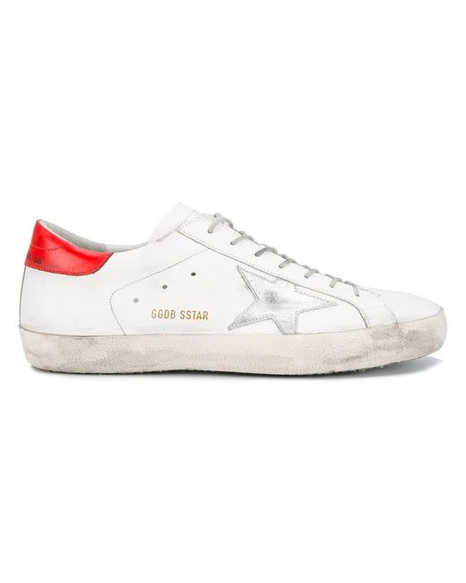 Golden Goose Deluxe Brand - White Superstar Sneakers With Contrasting Heel Counter - Lyst