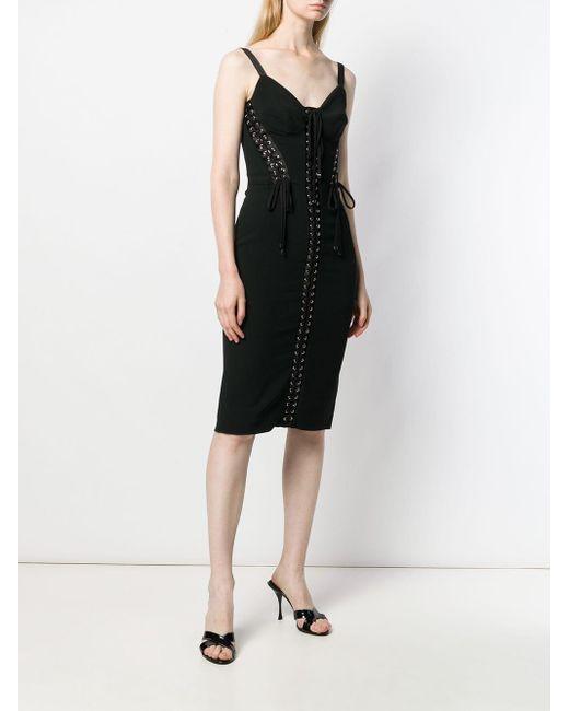 Robe ajustée à détails de laçage Dolce & Gabbana en coloris Black