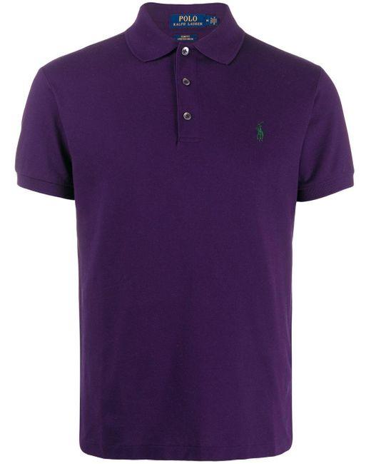 メンズ Polo Ralph Lauren ロゴ ポロシャツ Purple