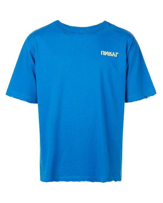 メンズ Unravel Project ロゴ Tシャツ Blue